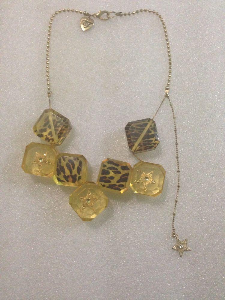 Betsey Johnson Bracelet Lucite Block Leopard Print Star