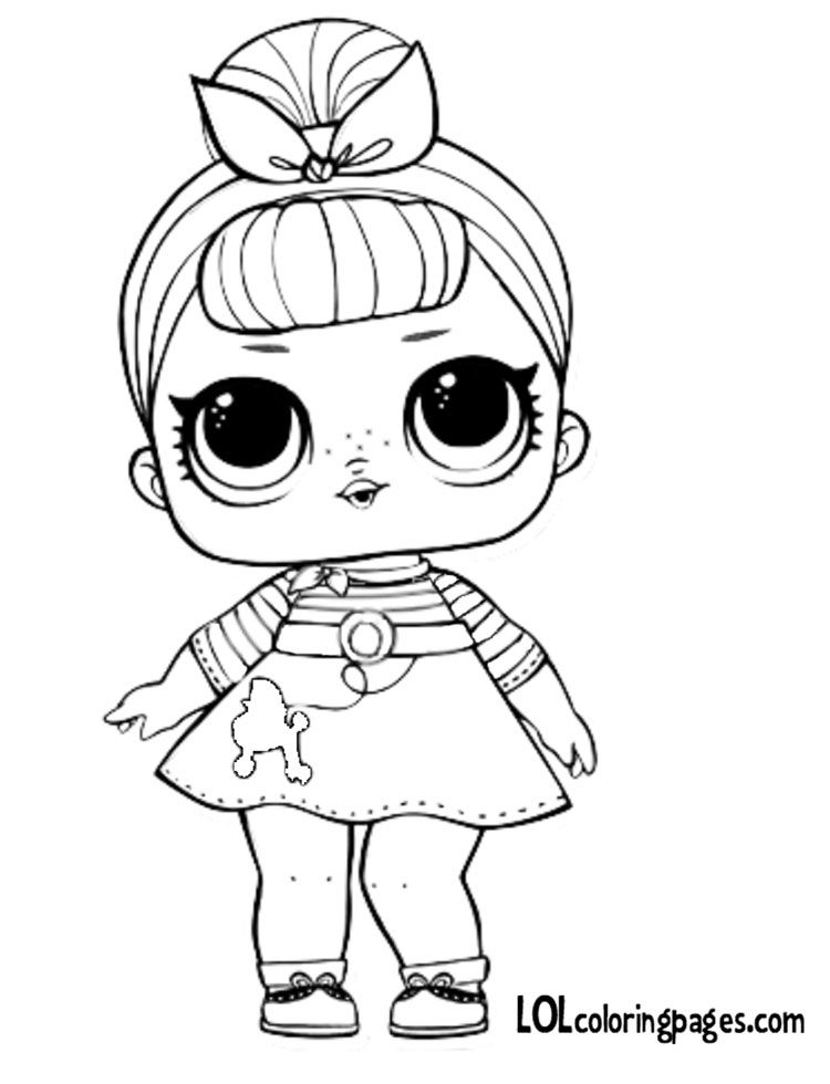 Sis Swing Coloring Page Lol Dolls Coloring Pages Barbie Coloring Pages