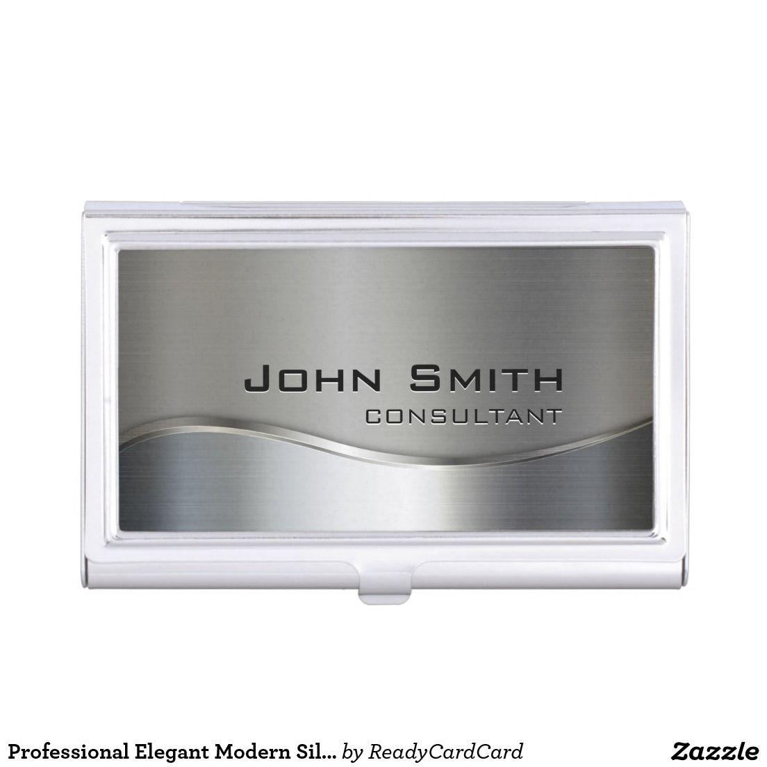 Professional Elegant Modern Silver & Gold Metal Bu Business Card ...