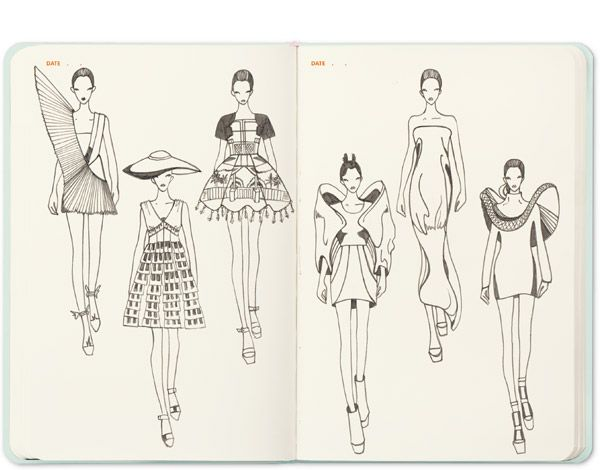 The sketch croquis sketchbook recherche google artist for Fashion sketchbook with templates