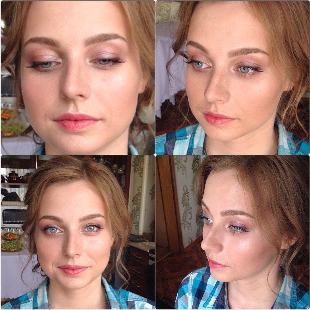 """""""Легкий мэйк для свидетельницы. Очень уж она напомнила мне @classisinternal  #make #makeup #hair #hairdresser #like #live #love #work #wedding #follow"""""""