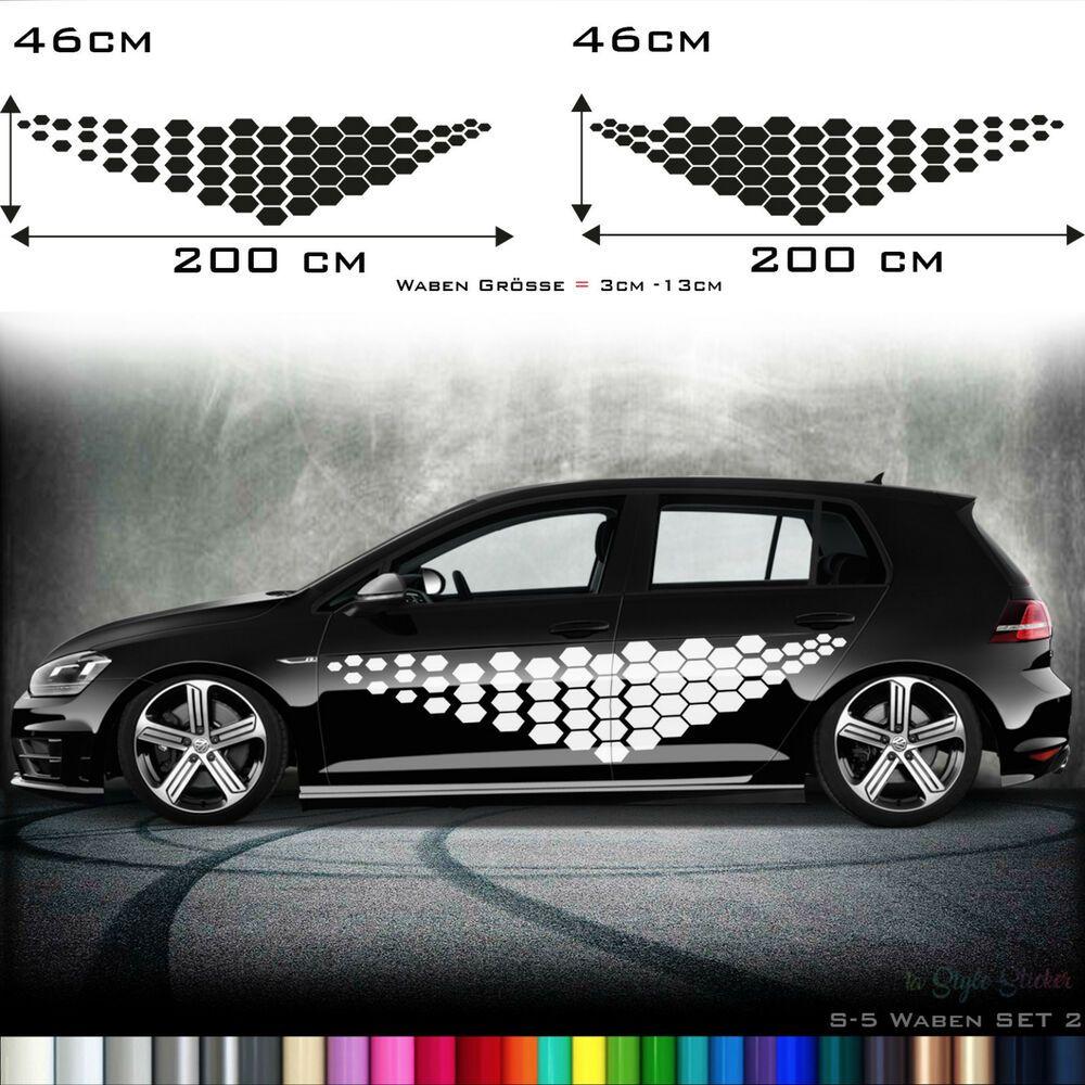Auto Aufkleber Seitenaufkleber Rauten Waben Muster Hexagon