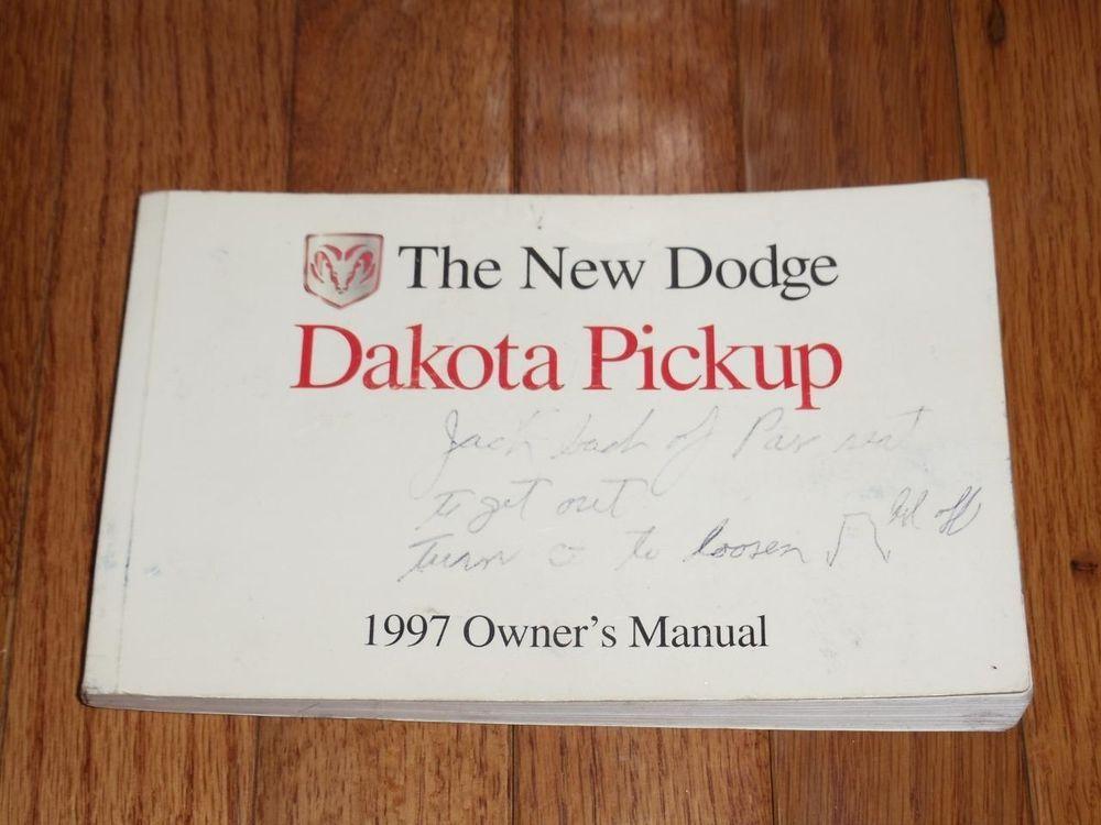1997 dodge dakota pickup owners manual book guide owners manuals rh pinterest com 1999 Dodge Dakota 1997 dodge dakota owners manual free