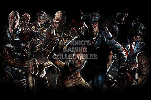 Cgc Huge Poster Call Of Duty Black Ops Ii Zombies Ps3 Xbox 360