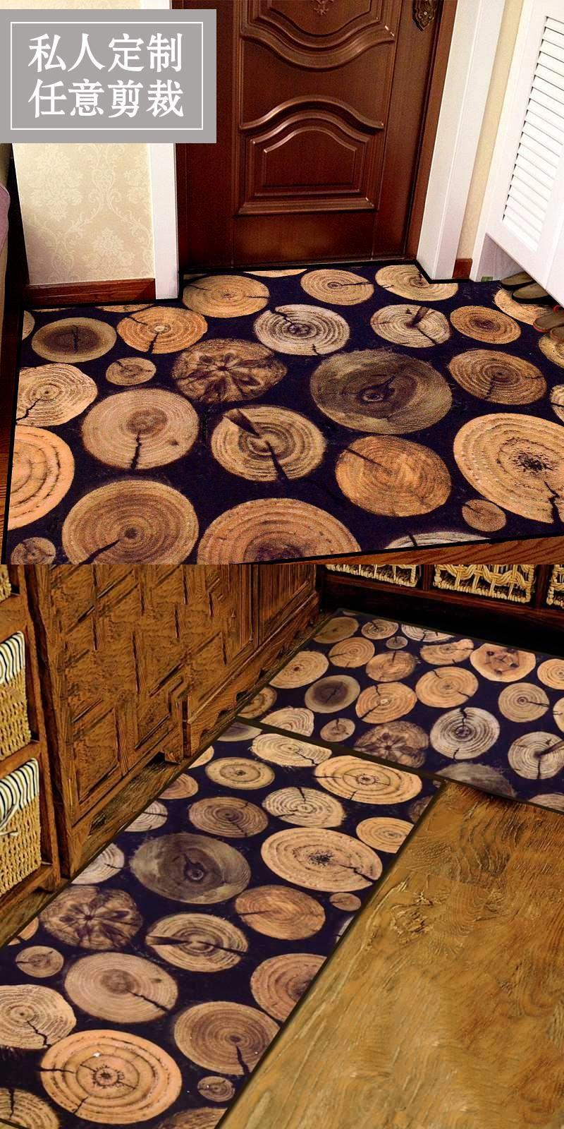 Kingart Antique Wood Tree Door Mats Slip Resistant Kitchen Floor Mat Living Room Rug And