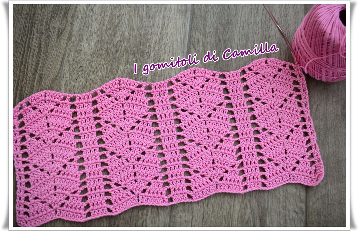 Punto Fantasia Con Foglioline A Uncinetto Crochet 18 Crochet