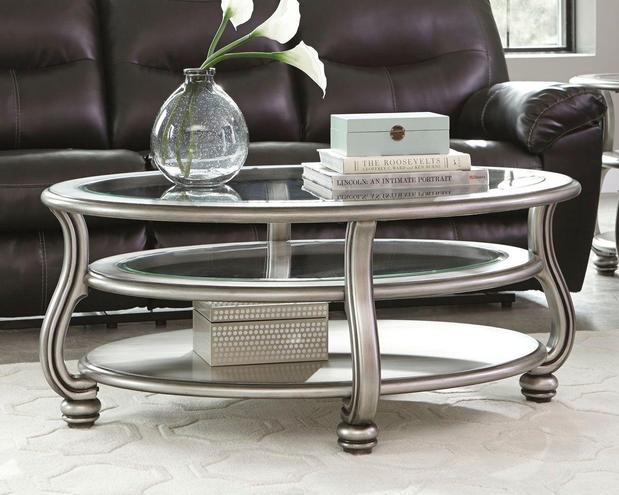 Coralayne coffee table silver finish
