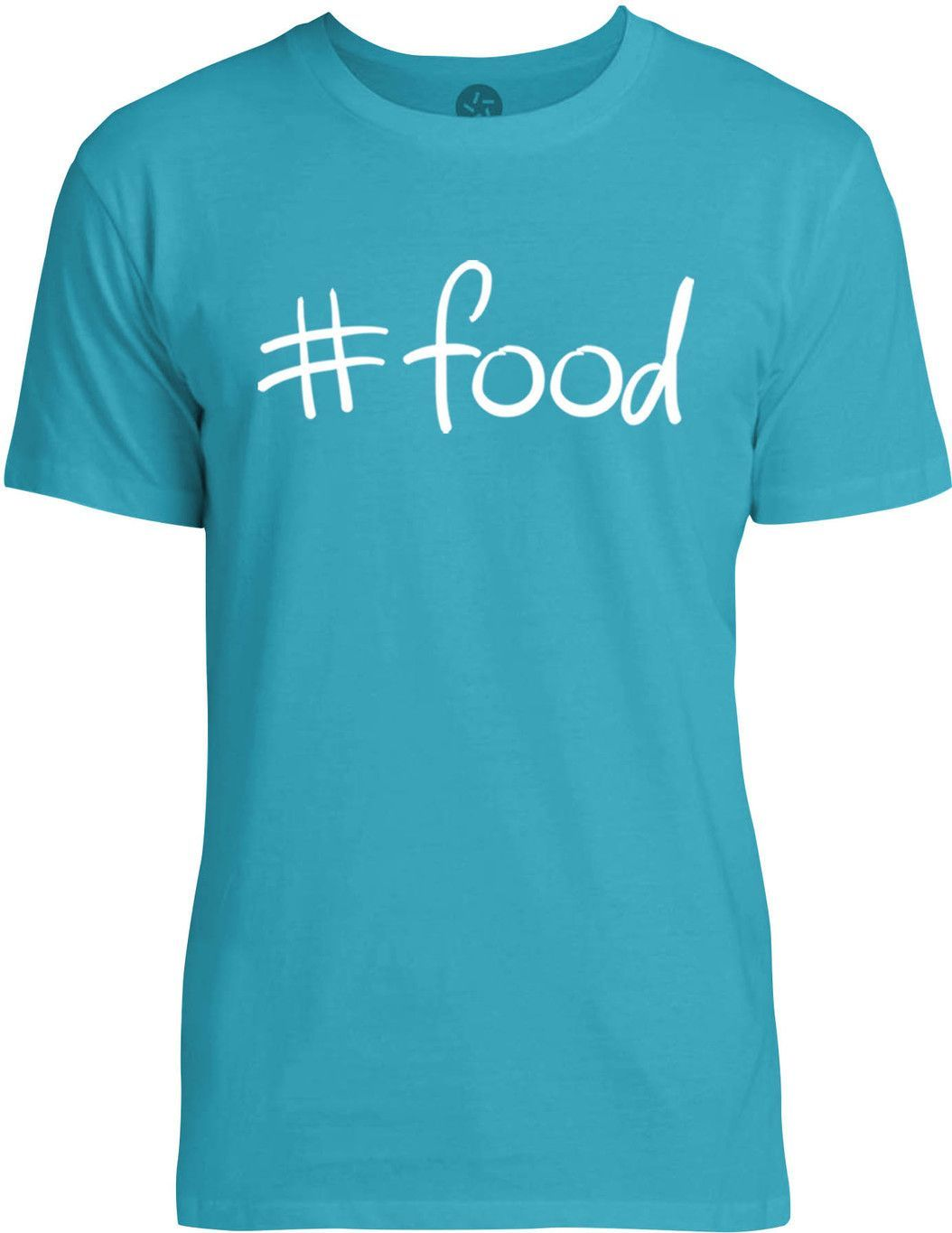 Hastag Food (White) Mens Fine Jersey T-Shirt