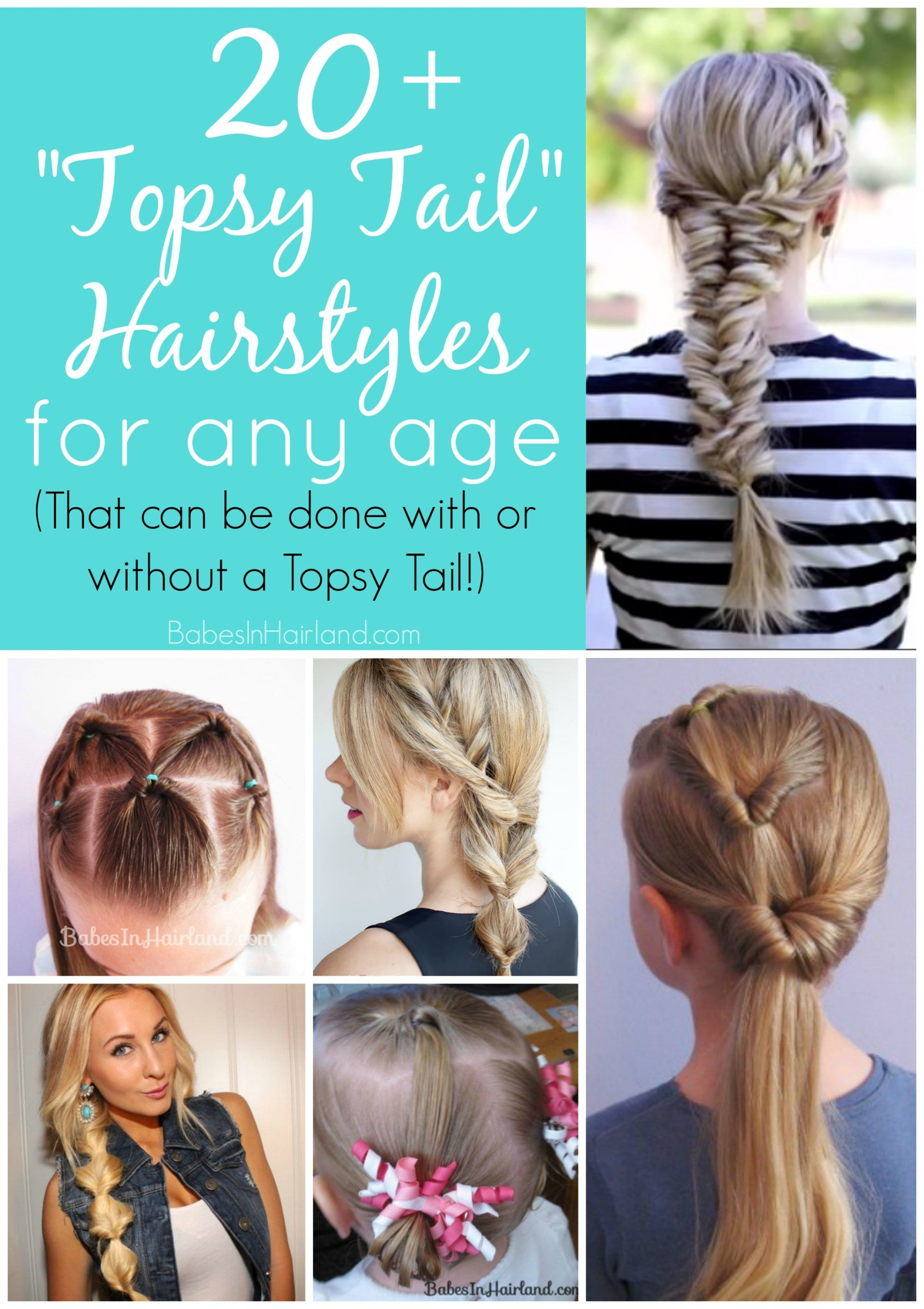 10++ Topsy tail hairstyles for long hair trends