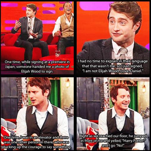 Pin De Harriet Wood En Funny Elijah Wood Daniel Radcliffe Humor