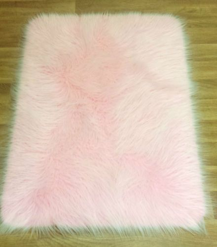 Details About Frost 2 Tone Mongolian Faux Fur Hairy Rug