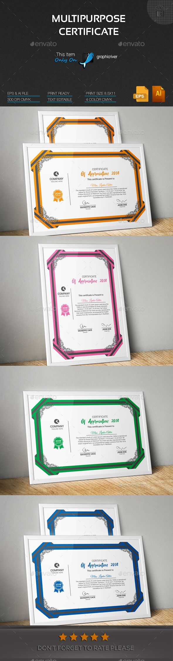 Multipurpose Certificate | Pinterest | Certificate, Template