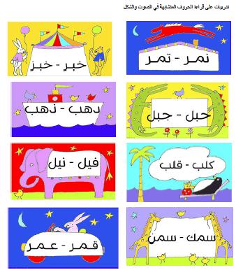 أوراق تعليمية للغة العربية المتشابهات مغتربة Farm Theme Preschool Learning Arabic Learn Arabic Alphabet