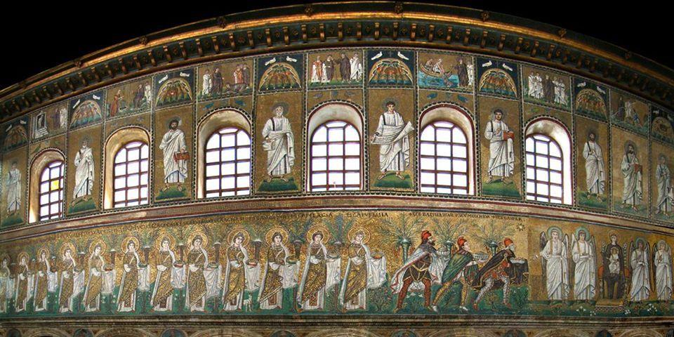 Sant'Apollinare Nuovo, Ravenna. Mosaici della navata, VI secolo