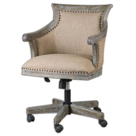 Free Shipping Buy Uttermost Kimalina Linen Accent Chair At Walmart
