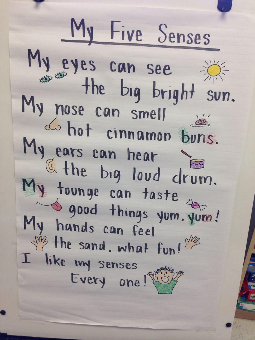 hight resolution of Ms. Rogers 5 senses poem   Five senses preschool