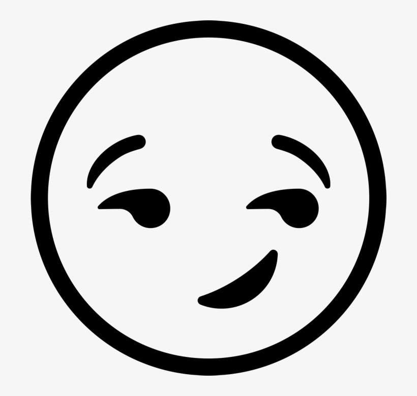 Download Smirking Face Emoji Rubber Stamp Emoji Clipart Black And White Png Image For Free Search More High Quality Emoji Clipart Emoji Coloring Pages Emoji