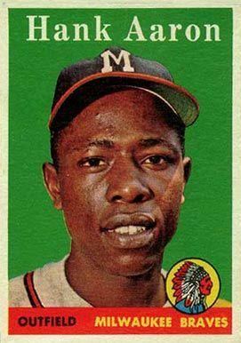 Baseball Card Prices 1958 Topps Hank Aaron 30w Baseball