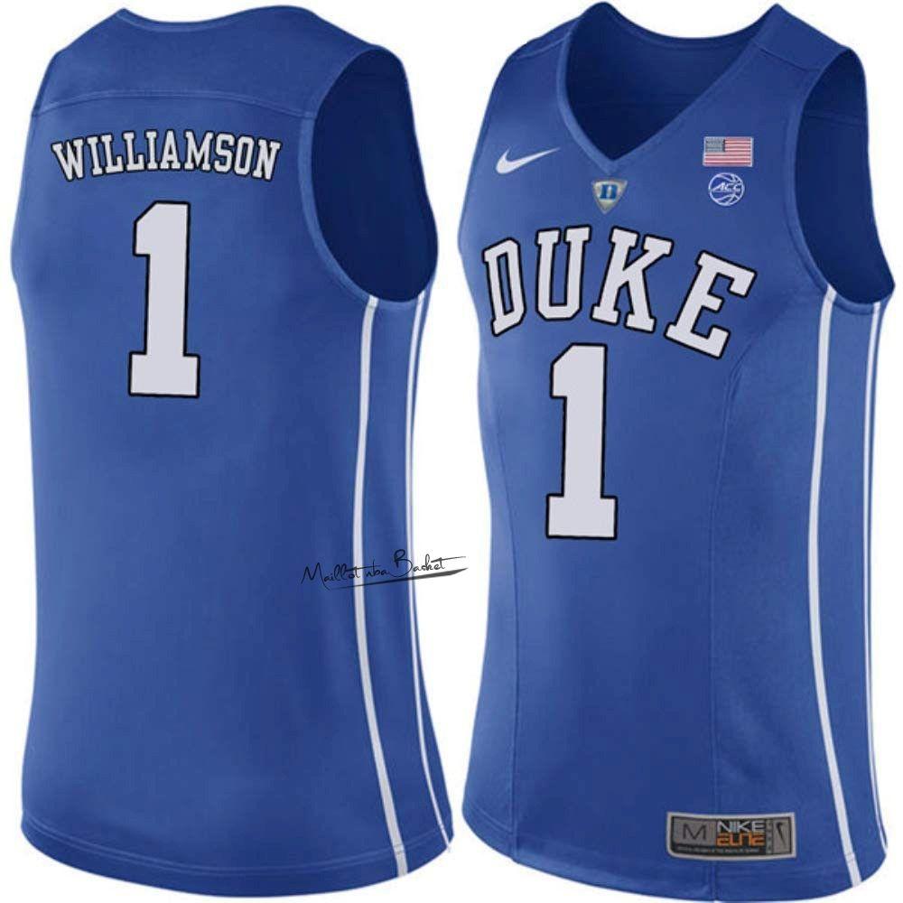 Maillot Ncaa Duke No 1 Zion Williamson Bleu College Basketball Uniforms Basketball Uniforms College Basketball Shirts