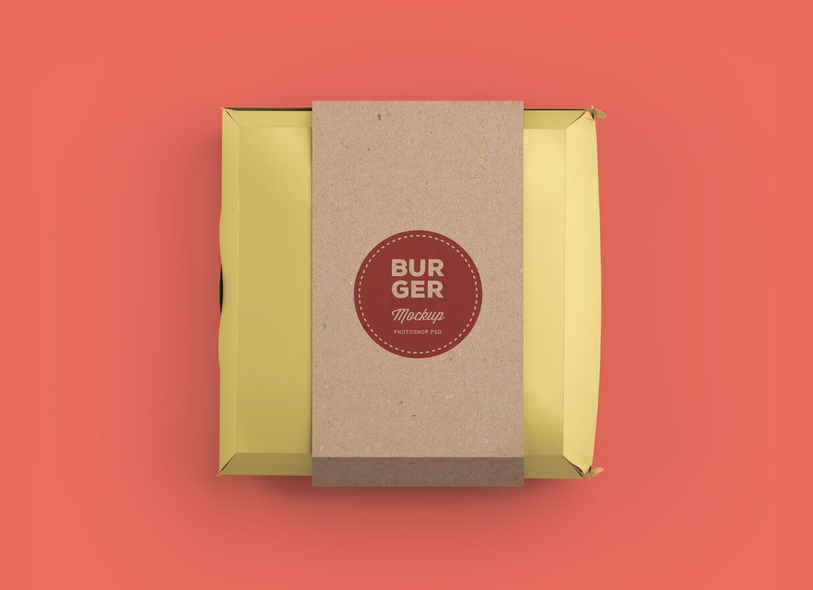 Download Free Burger Box Packaging Mockup PSD | Packaging mockup ...