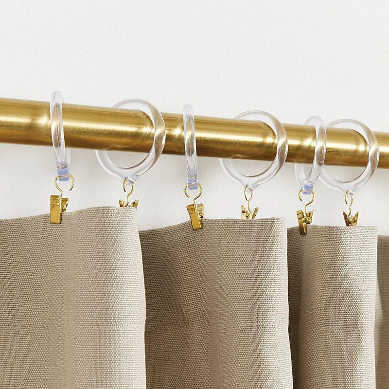 Set Of 10 Acrylic Drapery Rings Ballard Designs In 2020