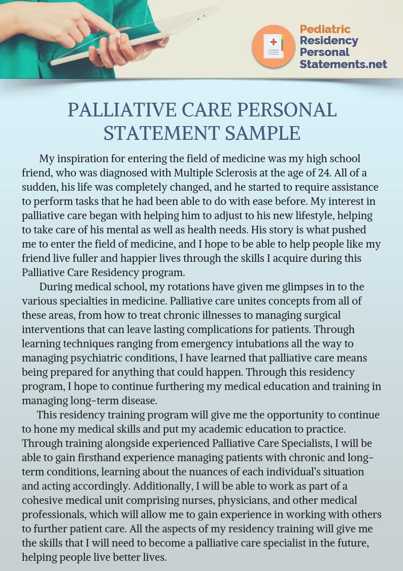 Pediatric Palliative Care Fellowship Application Tip Personal Statement Scholarship For Graduate Student Pediatrics Residency