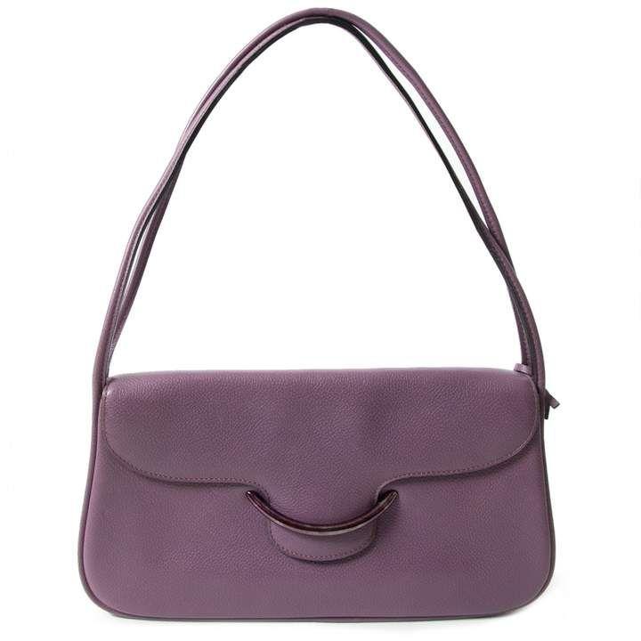 Leather Handbag Shoulder Bag Leather Handbags Purple Leather