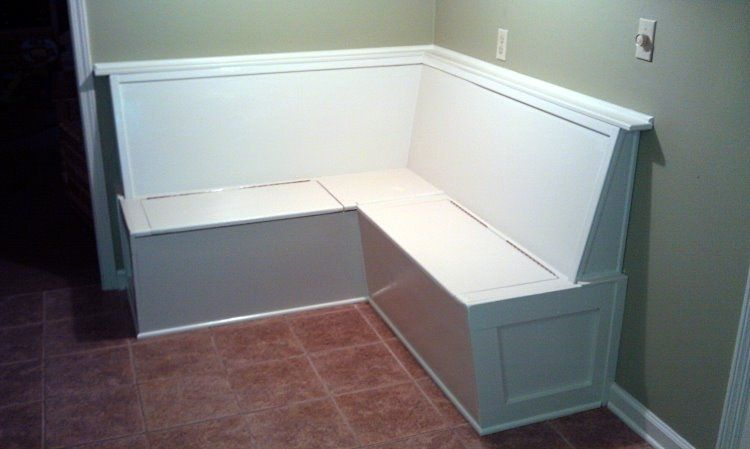 Attractive Custom Made Built In Kitchen Bench Banquette Seating With Storage