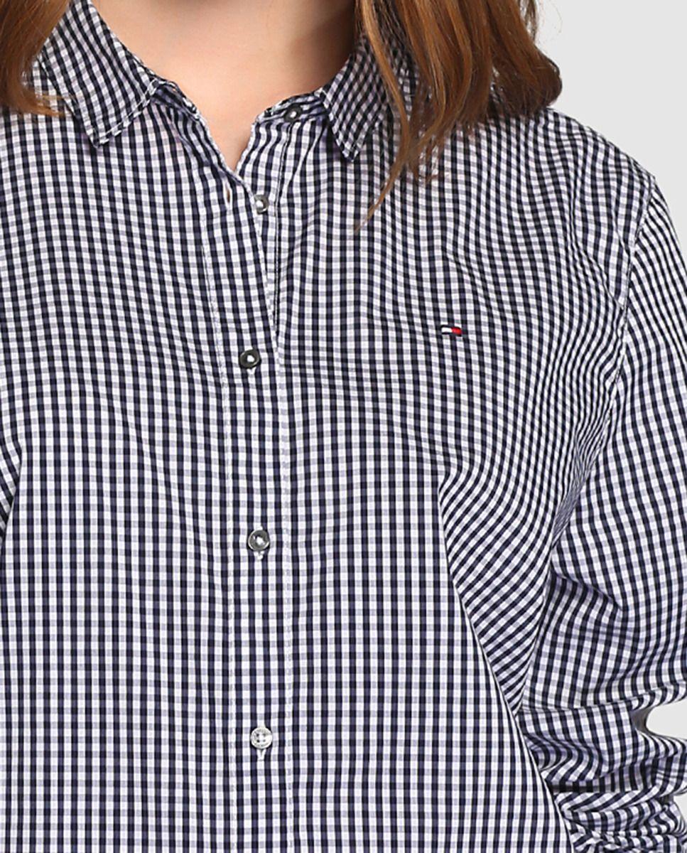 Camisa de mujer Tommy Hilfiger con estampado de cuadros en marino · Tommy  Hilfiger · Moda · El Corte Inglés 3ef55078bab