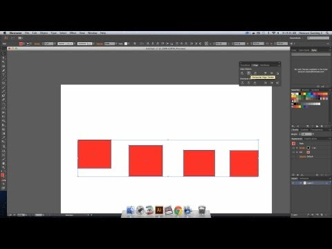 Align objects in photoshop