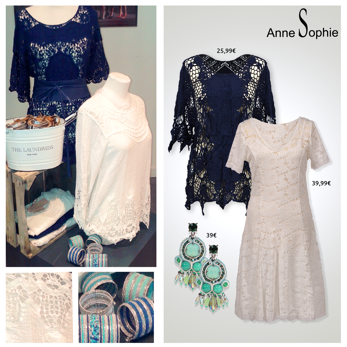 """Casual = Anne Sophie offers a feminine ready-to-wear """"Casual Chic"""" collection for a year-round feminine look."""