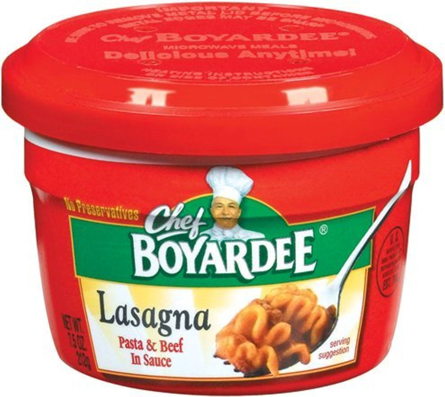 Chef Boyardee Microwave Lasagna In Sauce 7 5 Oz By Awesome Products