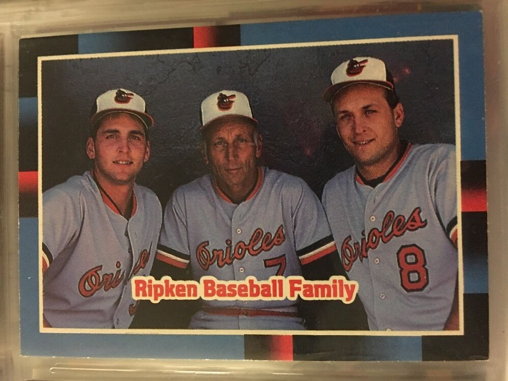 1987 Donruss Ripken Baseball Family 625 Orioles Near Mint