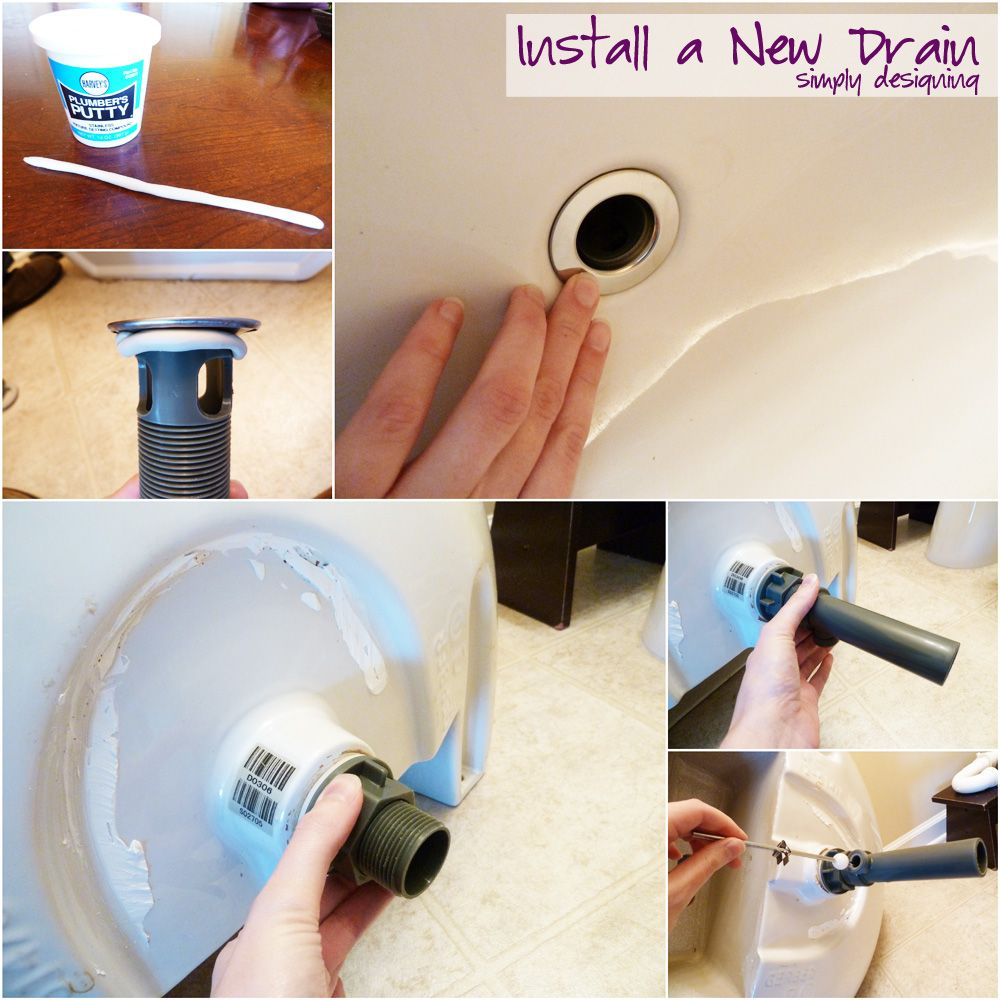 How to Install a New Bathroom Faucet in a Pedestal Sink #MoenDIYer ...