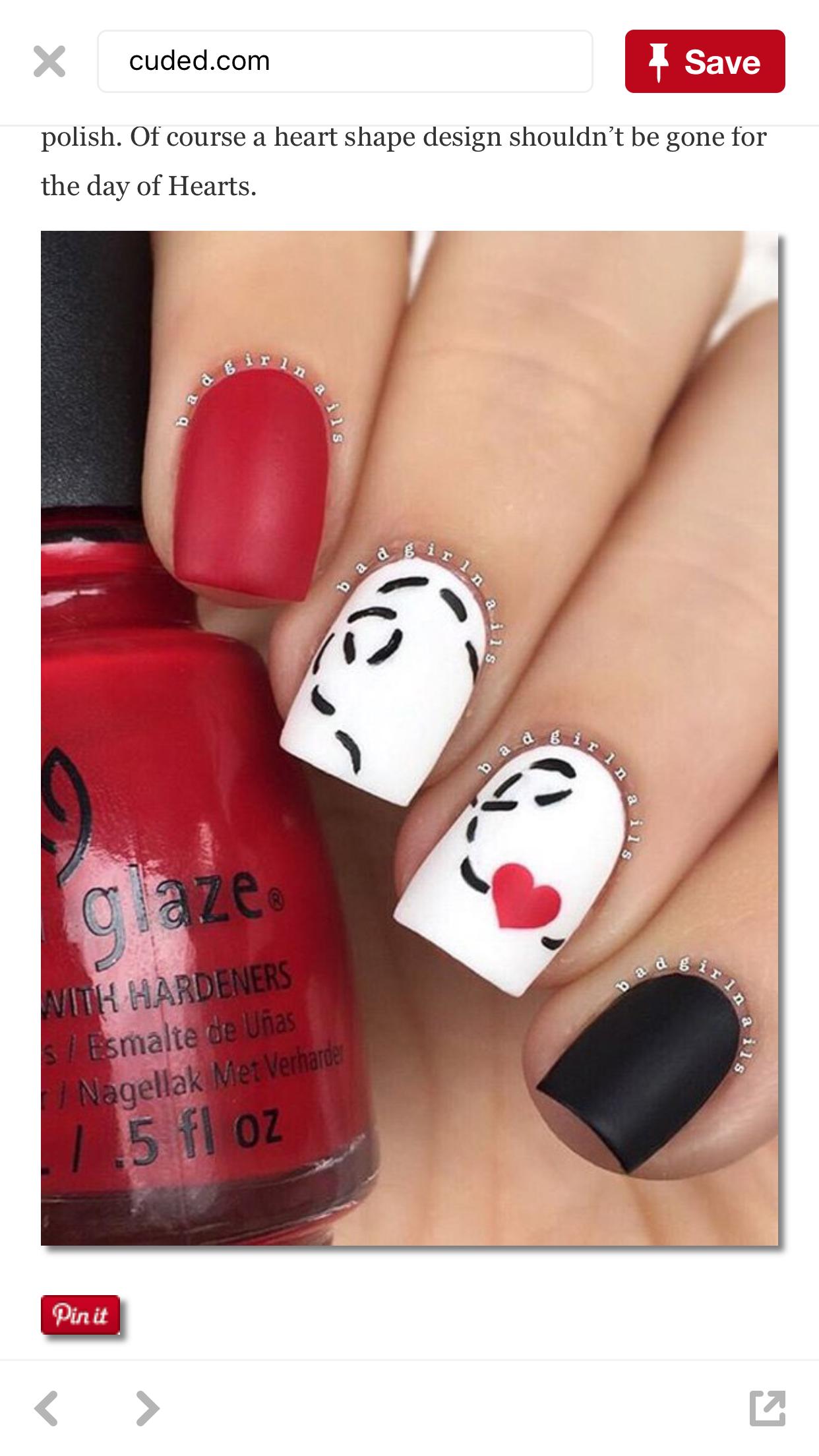 Pin de Crystal Mocs en Nails Valentines | Pinterest
