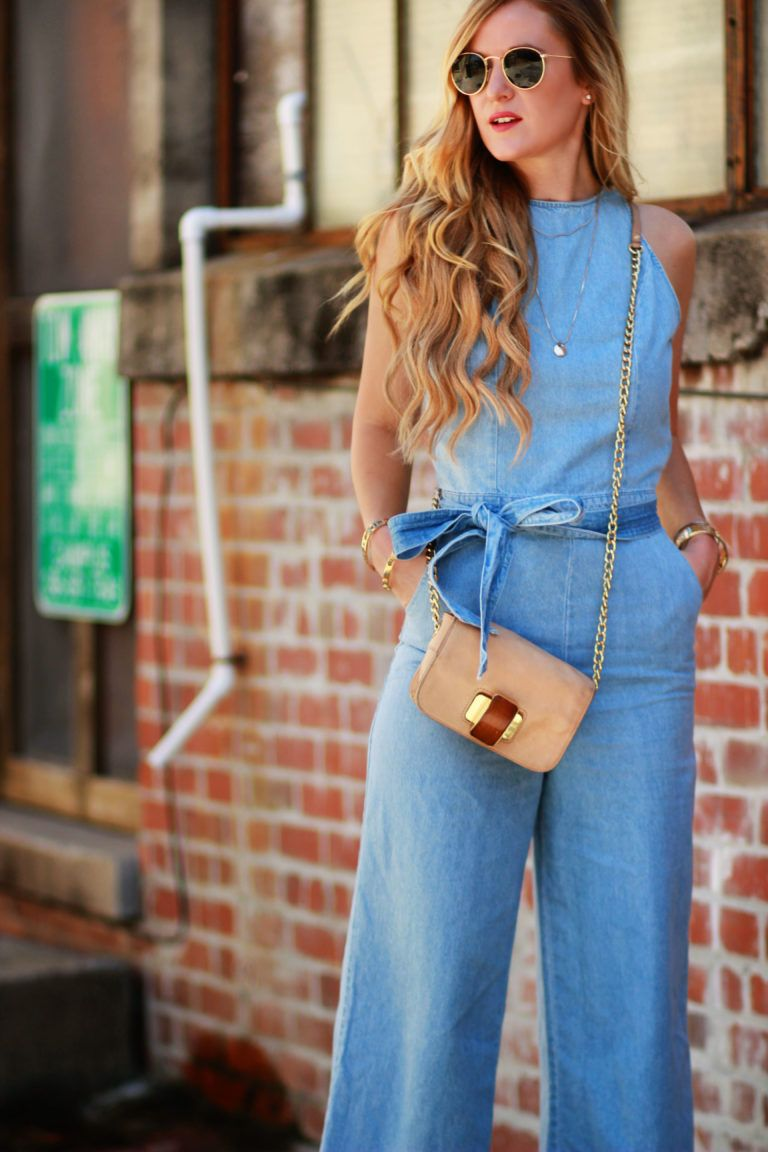 How To Style a Denim Jumpsuit | amor | Fashion, Denim