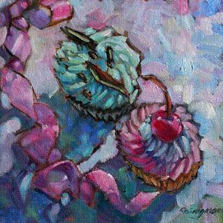 http://dailypaintercdingman.blogspot.com/ One of my cupcake paintings