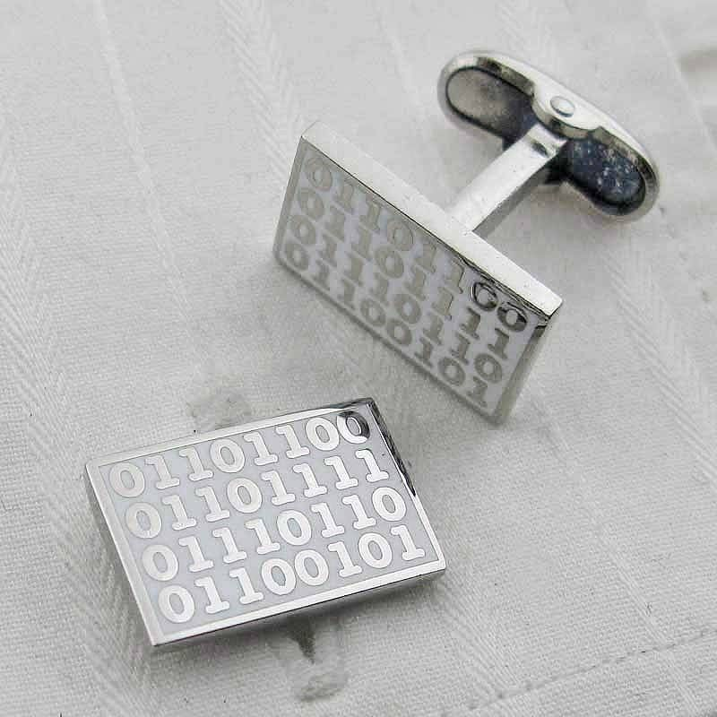 BeautIT cool gift for tech guy Geek computer engineer gift Tie clip /& Cuff links gift set