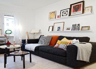 cmo decorar con un sof negro - Sofas Negros
