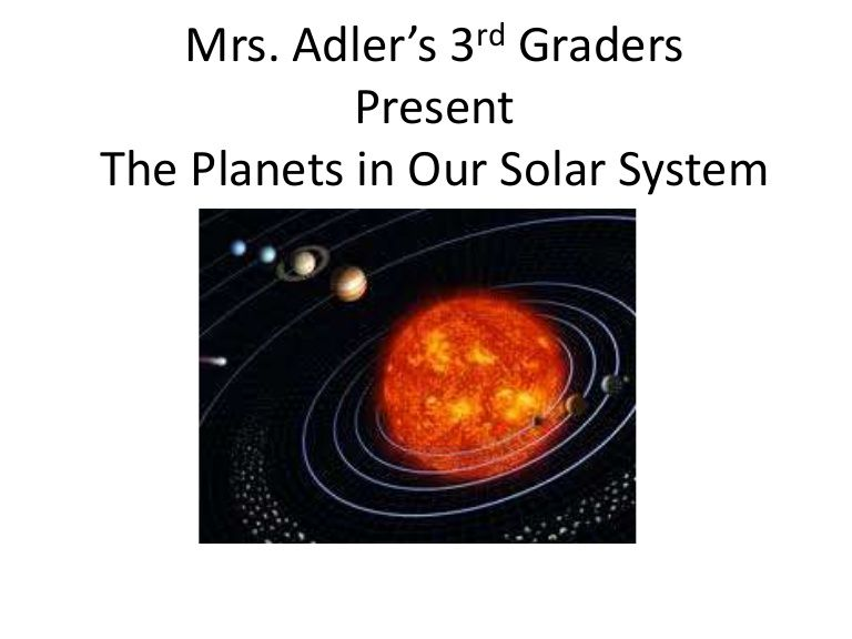 Mrs. Adler's 3rd Graders Present The Planets in Our Solar System