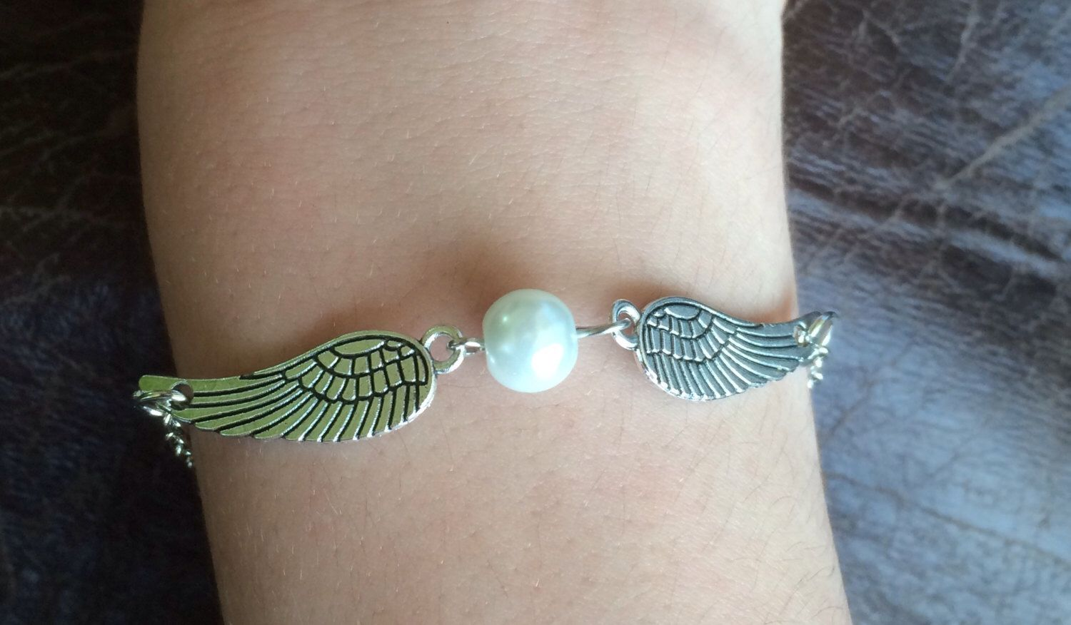 Angel pearl bracelet pearl bracelet bracelets alex and