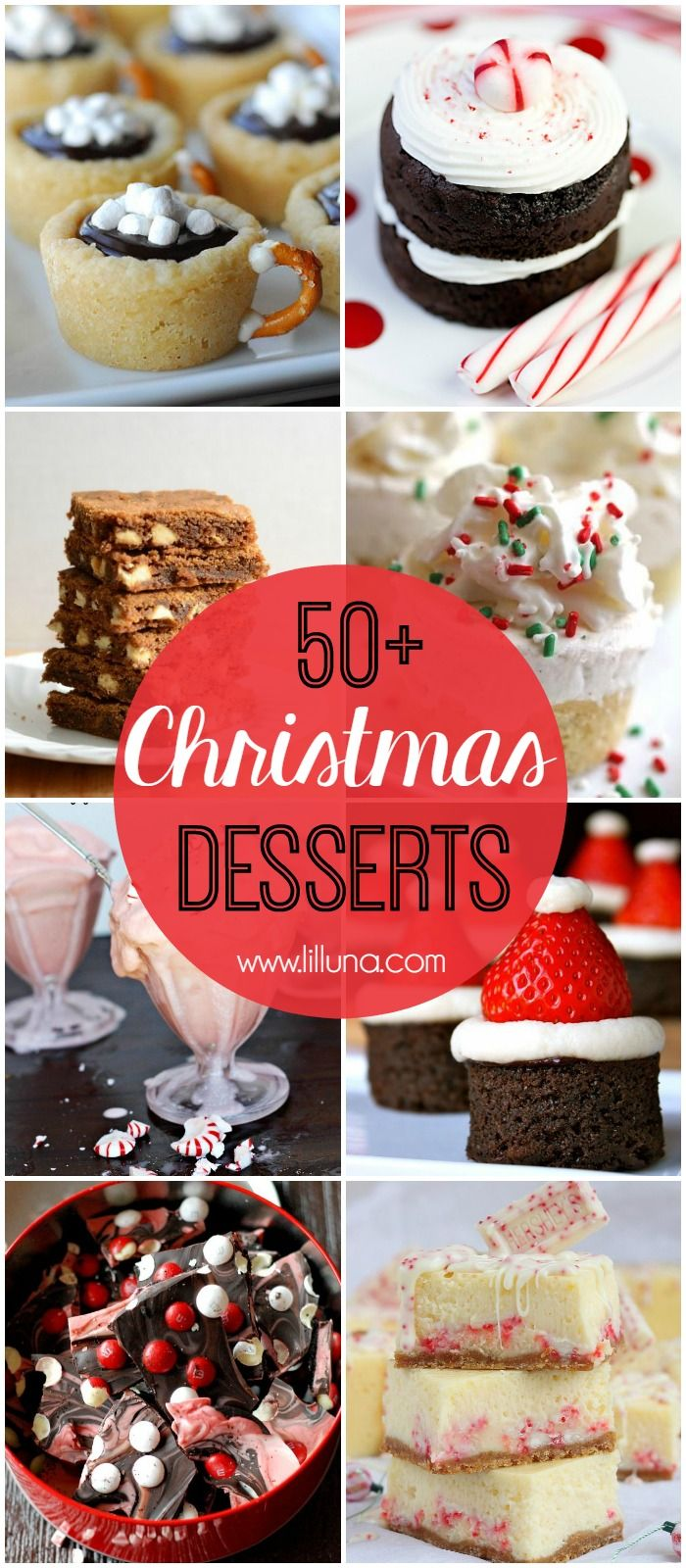 50+ Christmas Desserts - a roundup of MUST SEE desserts, perfect for ...