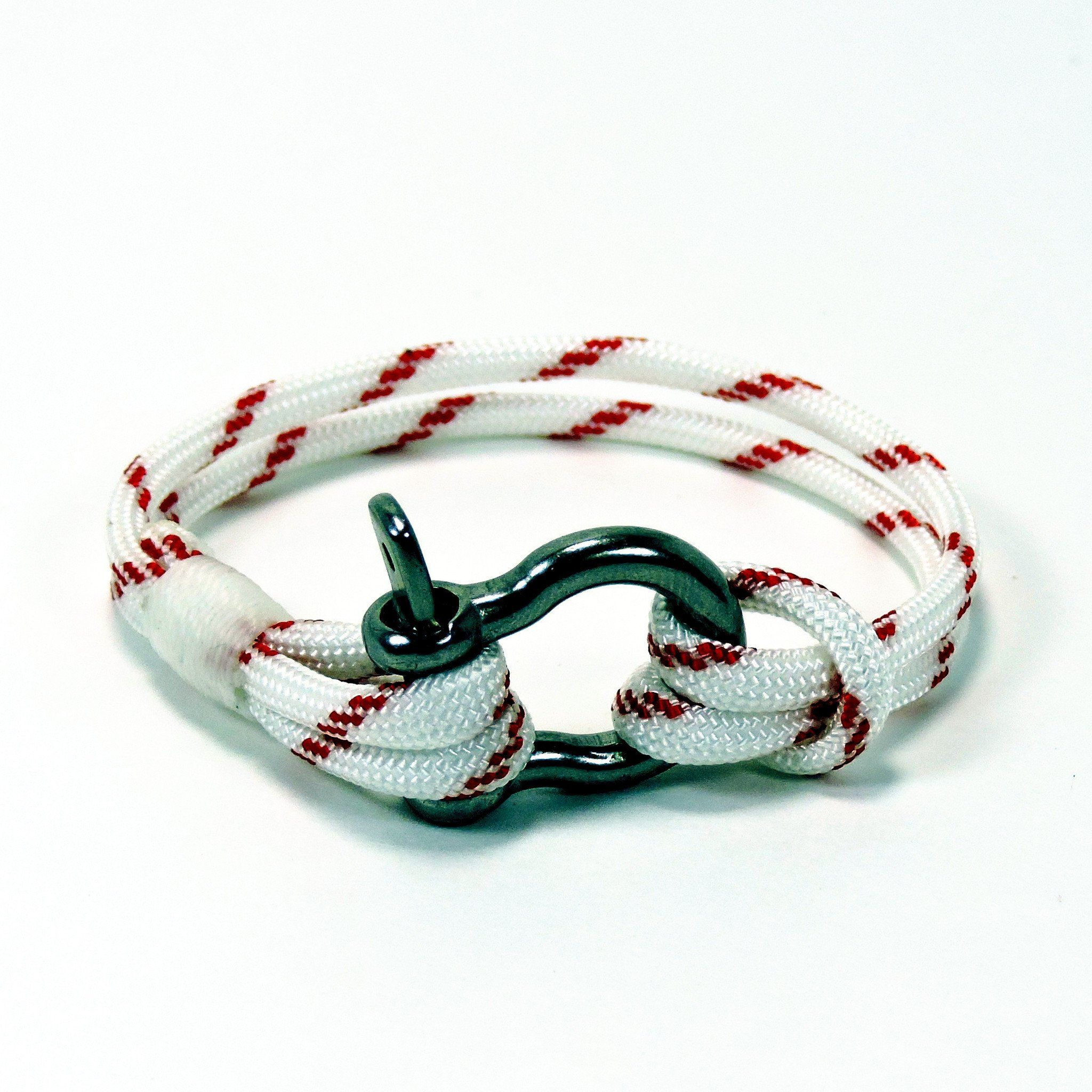 bracelet sterling vintage silver nautical hermes rope