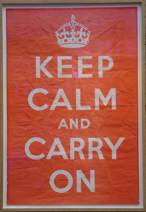 Poster Keep Calm 1939
