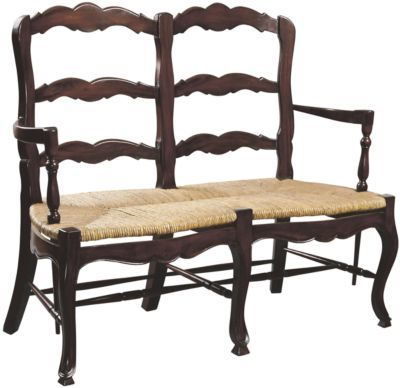 French Ladderback Settee from Soft Surroundings-looks like it could be done with 2 dinning chairs