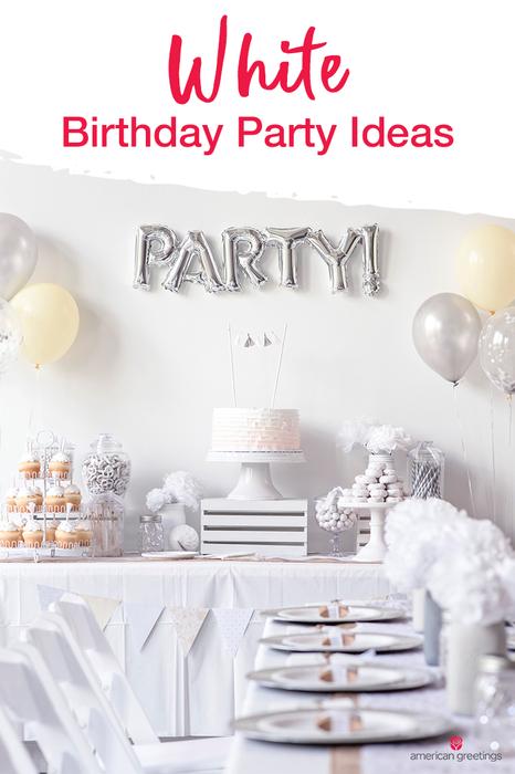 White Birthday Party Ideas White Party Decorations White Party