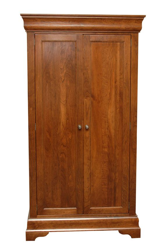 Armoire Dresser Furniture | Chateau Armoire Rustic Cherry Chateau Storage  Tower Rustic Cherry