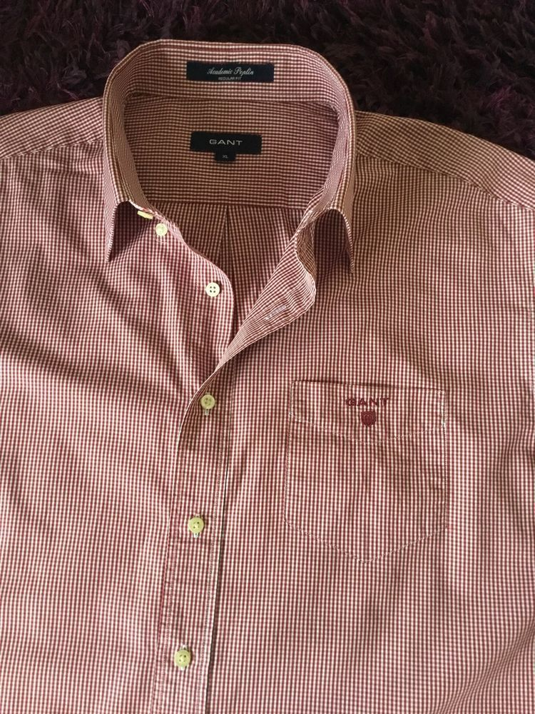 9ce901a668 Stunning 100% Genuine Mens Gant Red & White Check Shirt In XL #fashion # clothing #shoes #accessories #mensclothing #shirts (ebay link)