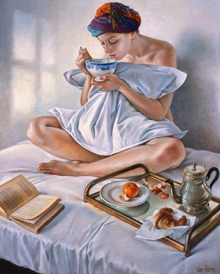 картинки старинные доброе утро завтрак котлетой семги