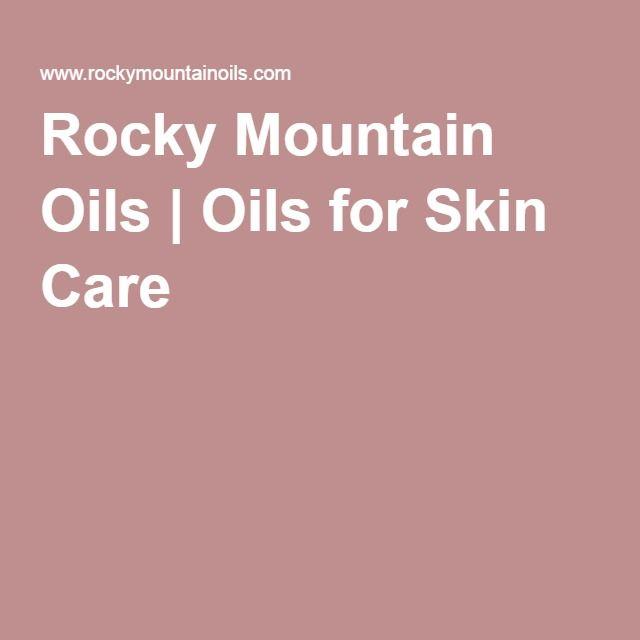 Rocky Mountain Oils | Oils for Skin Care